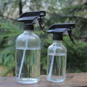 Misting spray bottle for mushroom growing